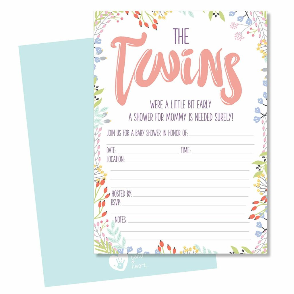 21 Twin Baby Shower Invitations Ideas You Will Love My Twin Babies